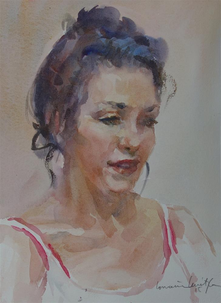"""Topknot"" original fine art by Lorraine Lewitzka"