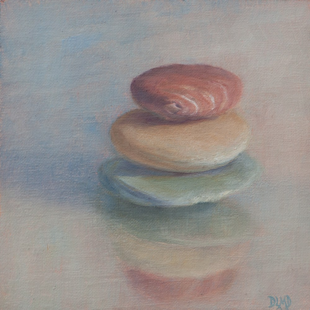 """Balance"" original fine art by Debbie Lamey-Macdonald"