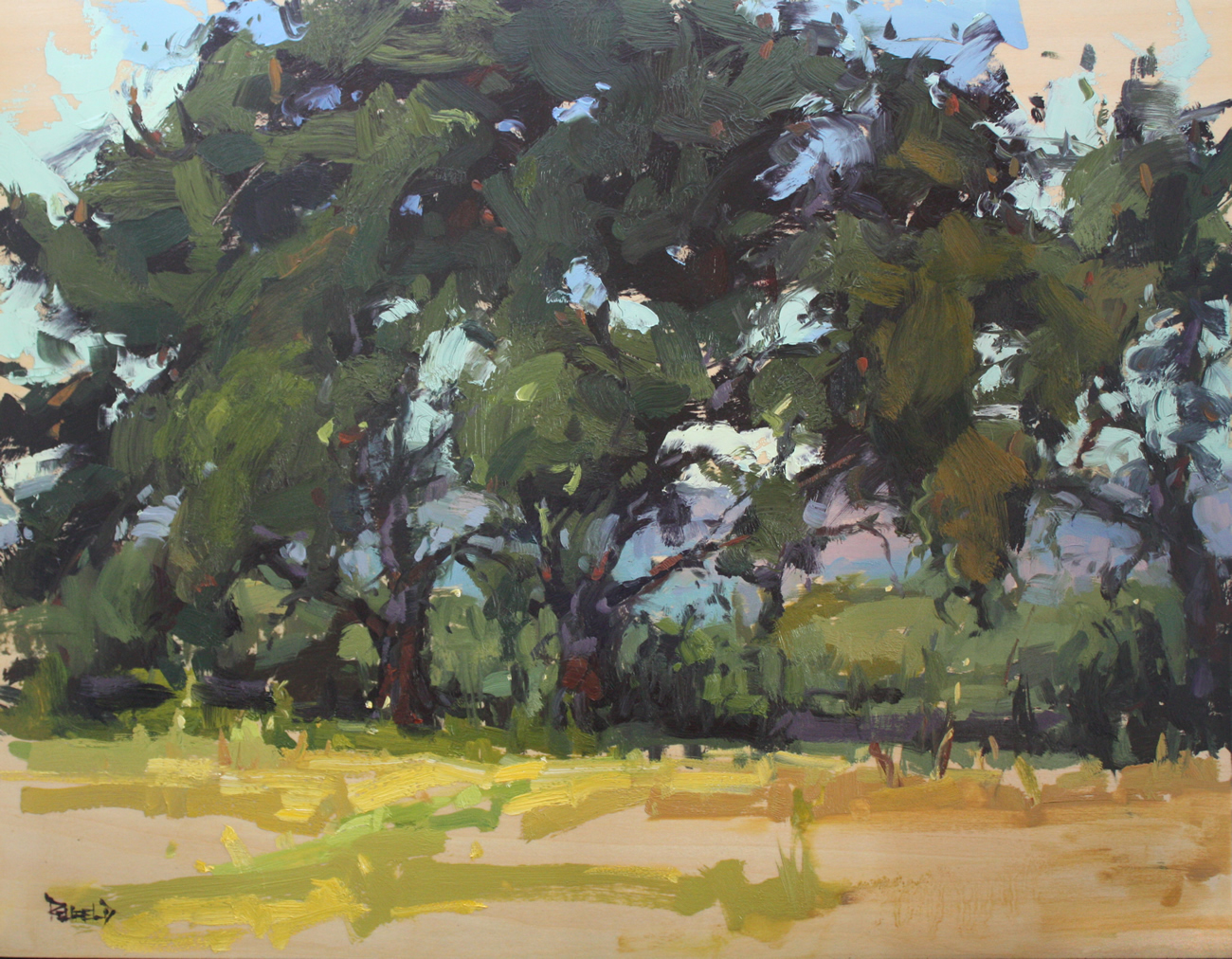 """Gorge Trees"" original fine art by Cathleen Rehfeld"