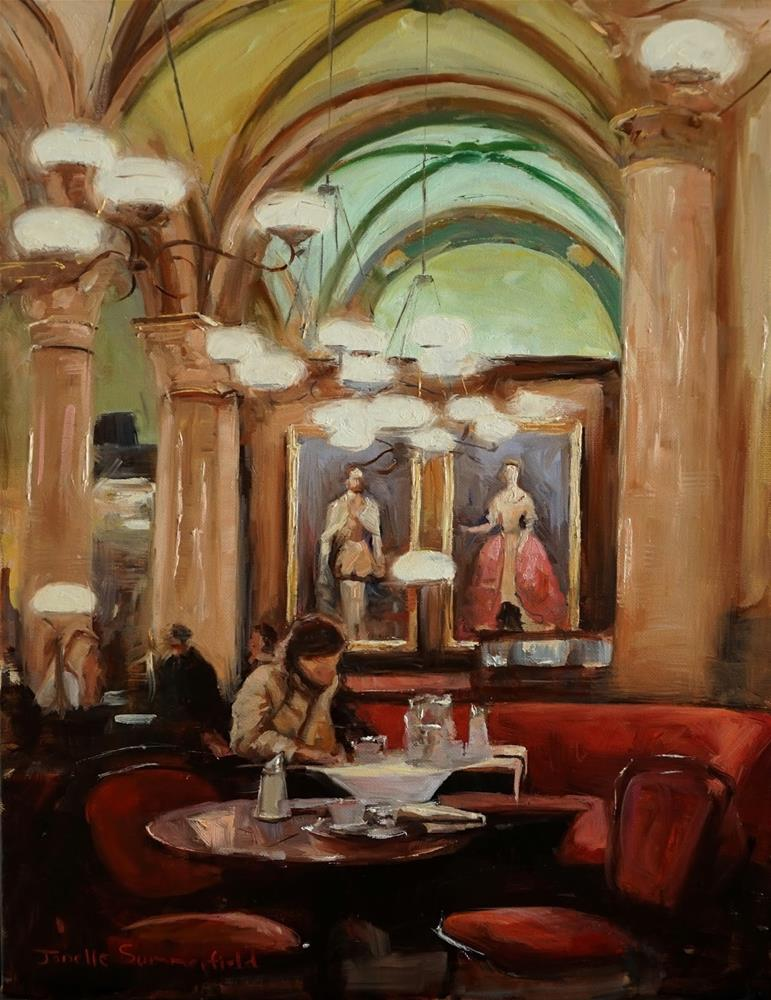 """Cafe Central"" original fine art by Jonelle Summerfield"