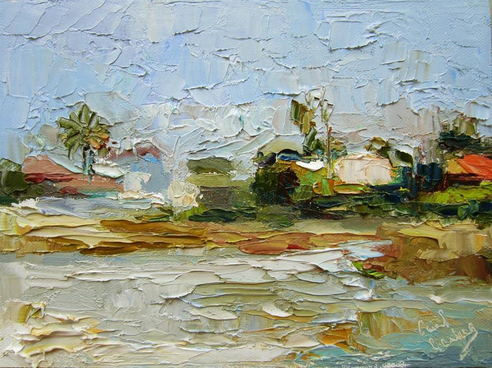 """""""Malibu Lagoon, AH"""" original fine art by Carol Steinberg"""