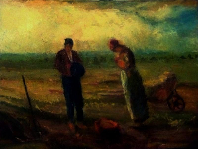 """Angelus aft Millet"" original fine art by Fred Medley"