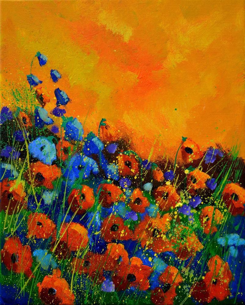 """poppies 45516032"" original fine art by Pol Ledent"