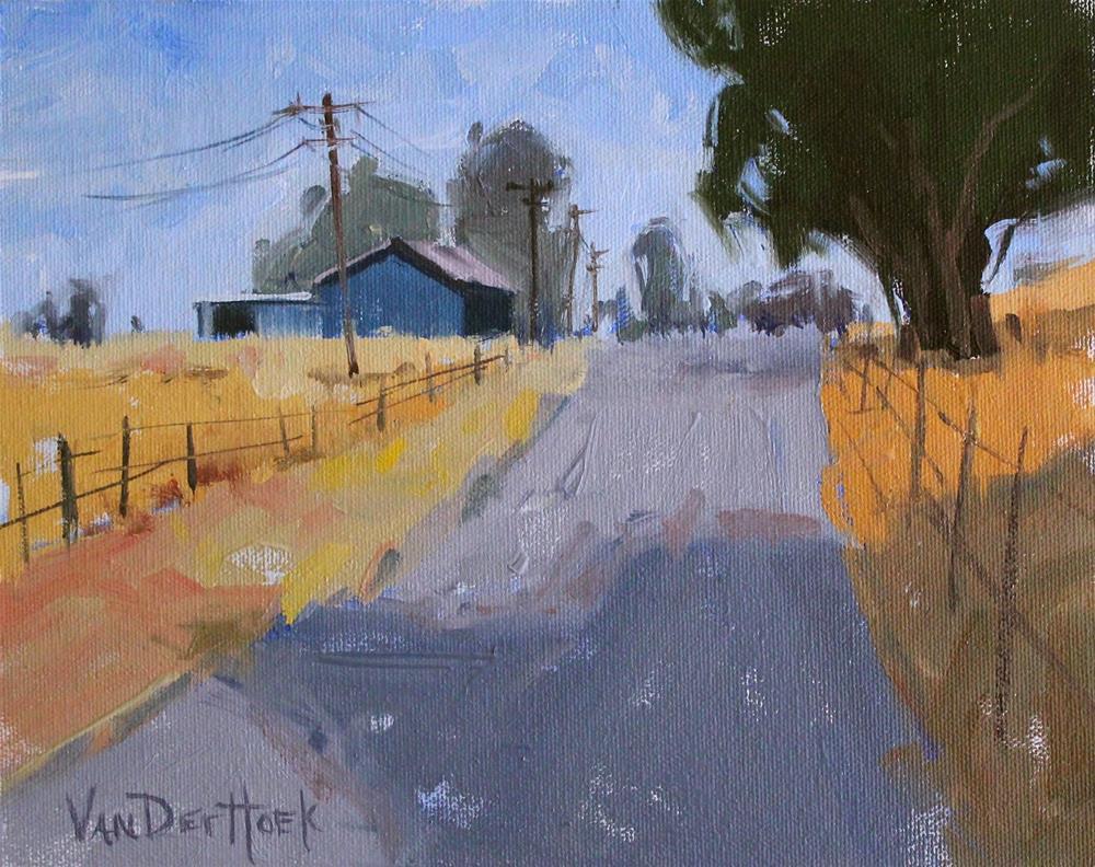 """Lakeville Road Blues"" original fine art by Kim VanDerHoek"
