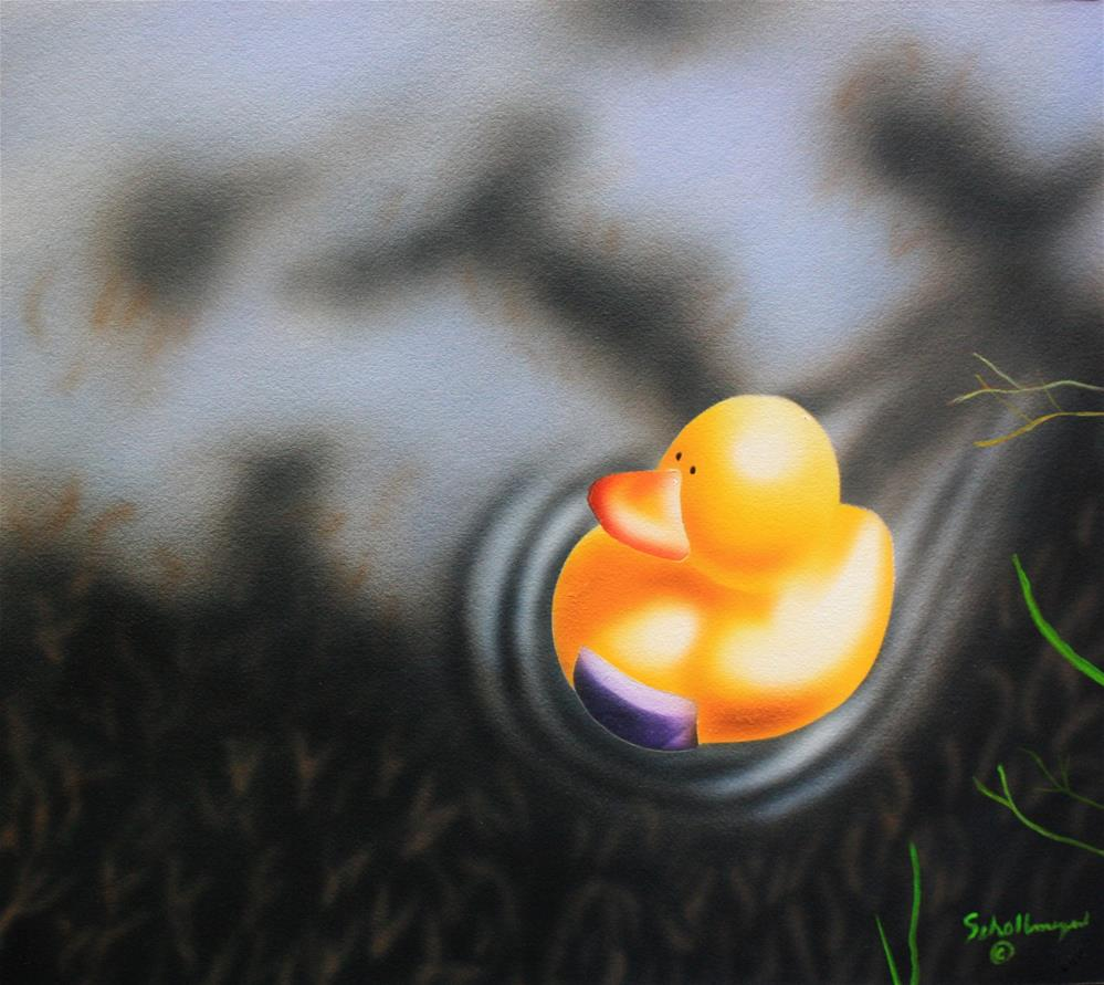 """Rubber Ducks Released Into the Wild:Story at Ten"" original fine art by Fred Schollmeyer"
