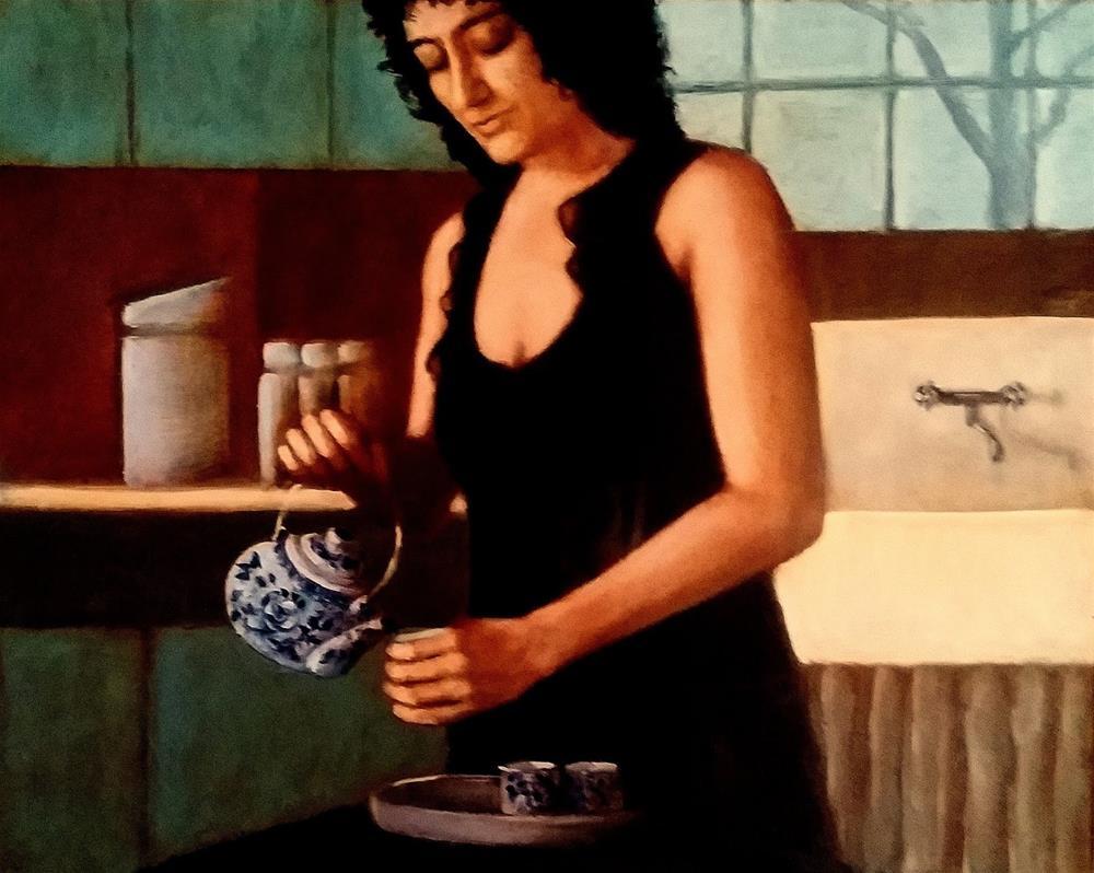 """Tea"" original fine art by David Larson Evans"