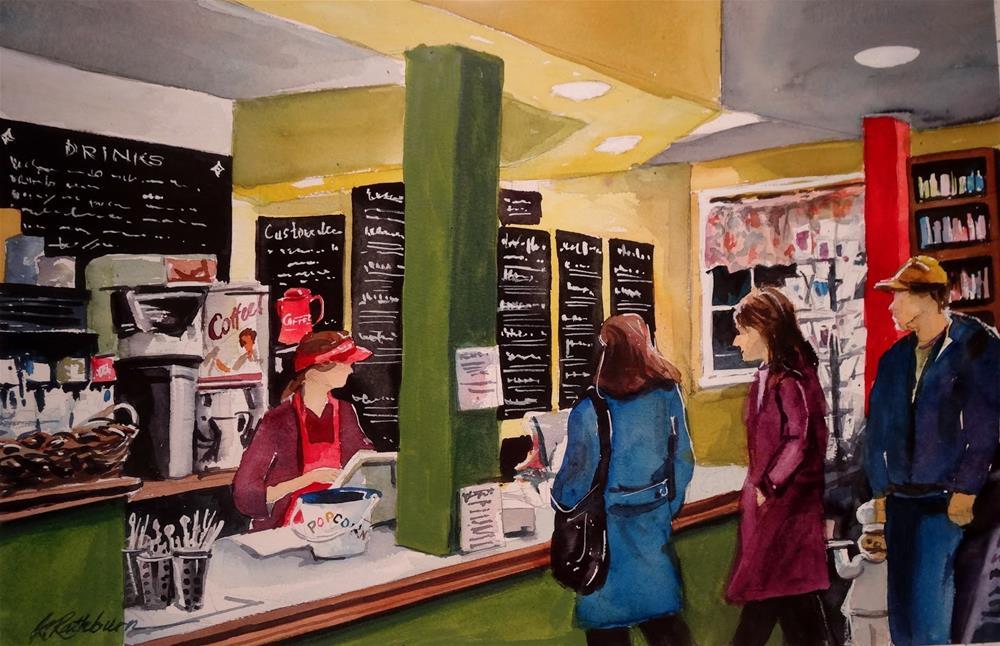 """Foodies"" original fine art by Kathy Los-Rathburn"