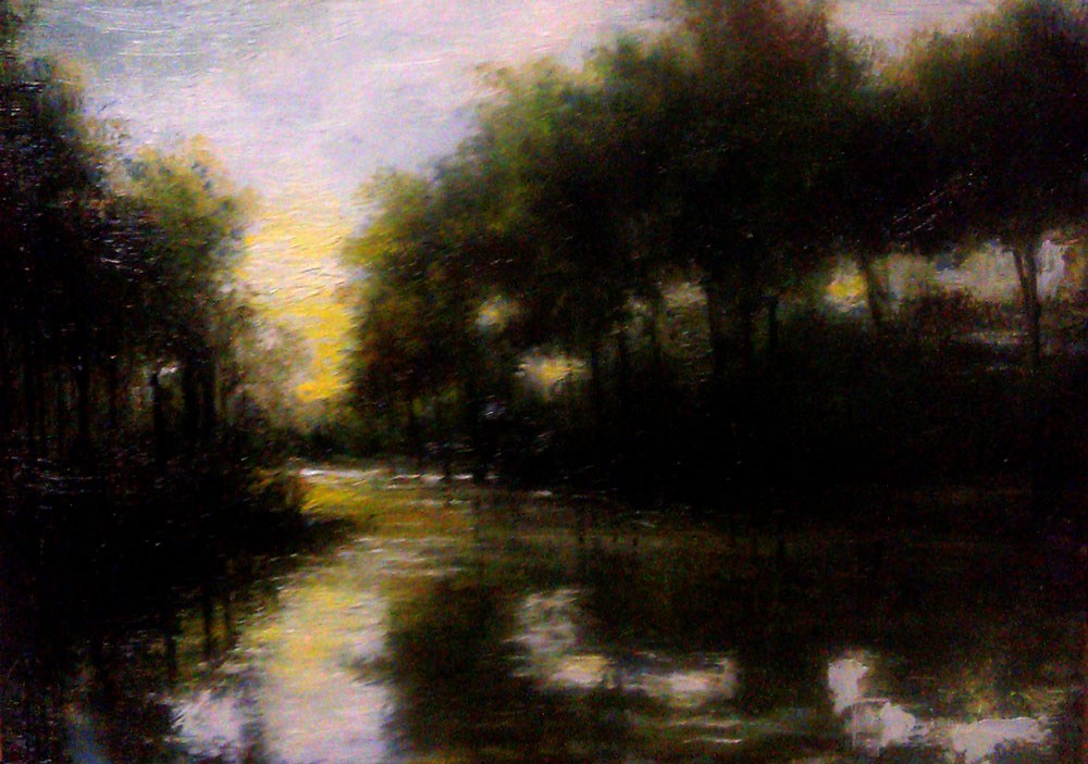 """The Lake"" original fine art by Bob Kimball"