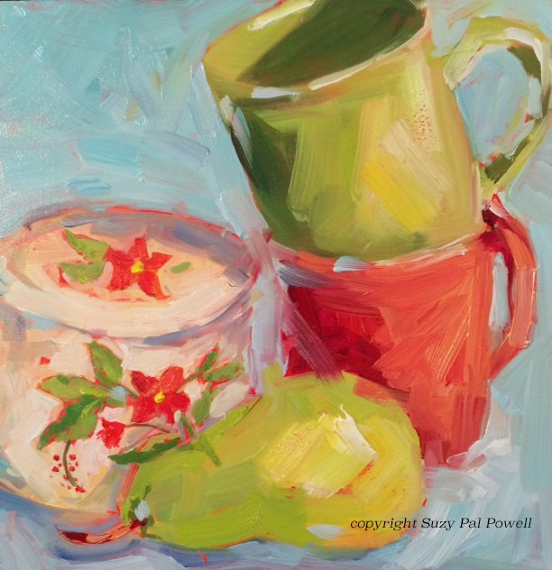 """Red and Green"" original fine art by Suzy 'Pal' Powell"