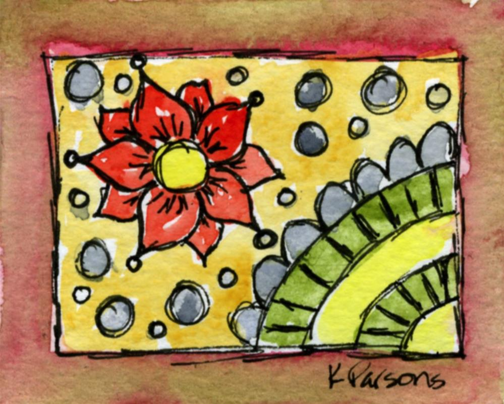 """Bubbly Flower"" original fine art by Kali Parsons"