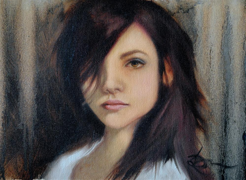 """Modern Mona"" original fine art by Kelly Berkey"