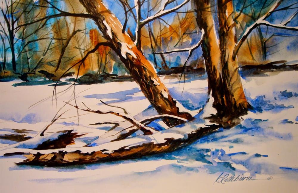 """Branching Across"" original fine art by Kathy Los-Rathburn"