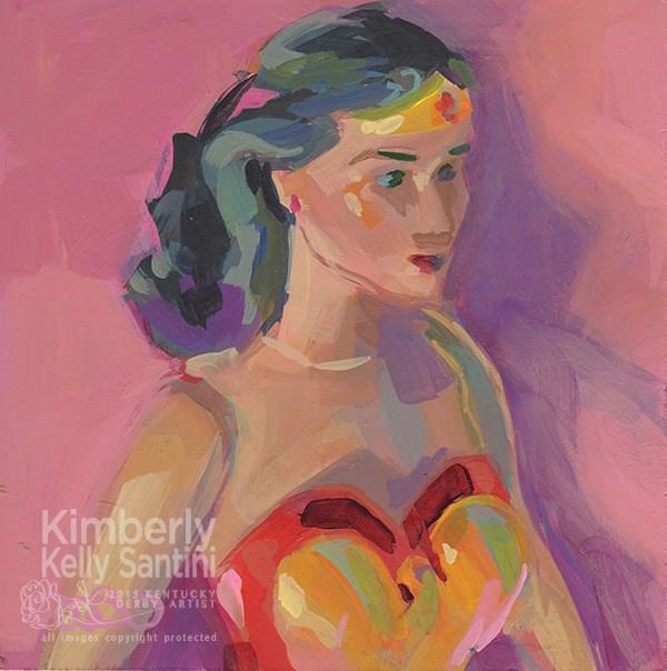 """Wonder Woman, Toy #8"" original fine art by Kimberly Santini"