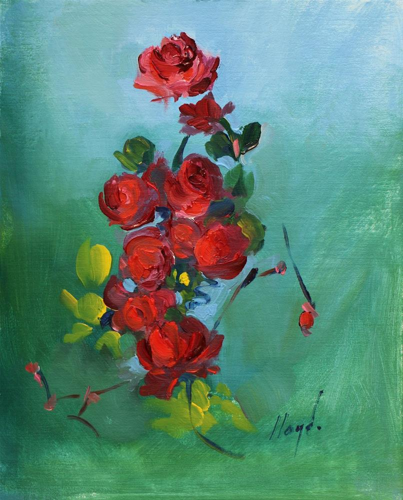 """Rose Vine"" original fine art by Diane Lloyd"