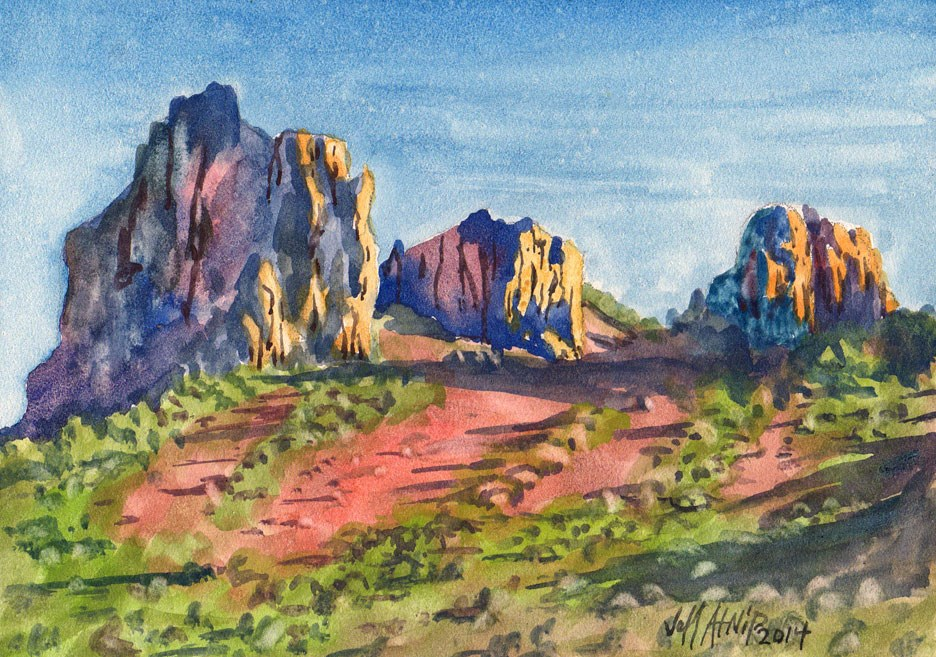 """High Ridgeline"" original fine art by Jeff Atnip"
