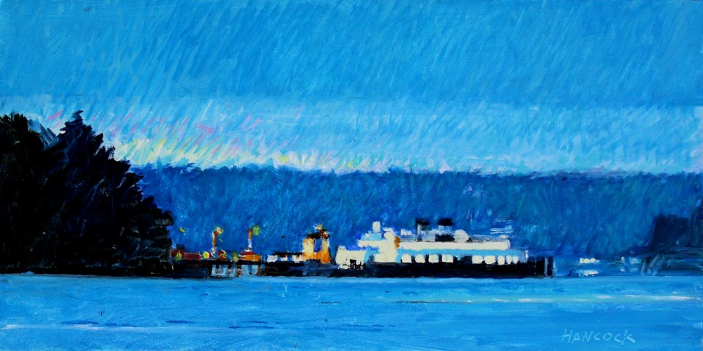 """Night Ferry Southworth"" original fine art by Gretchen Hancock"