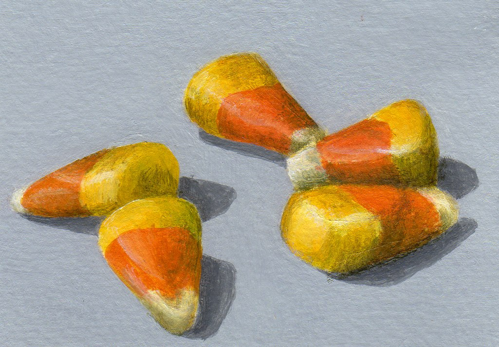 """Colored Kernels"" original fine art by Debbie Shirley"