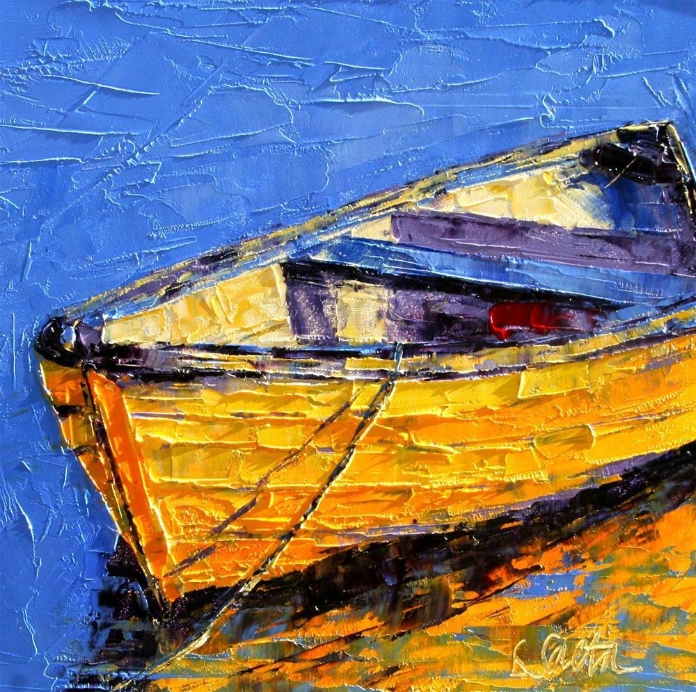 """""""Floating Along - SOLD"""" original fine art by Leslie Saeta"""