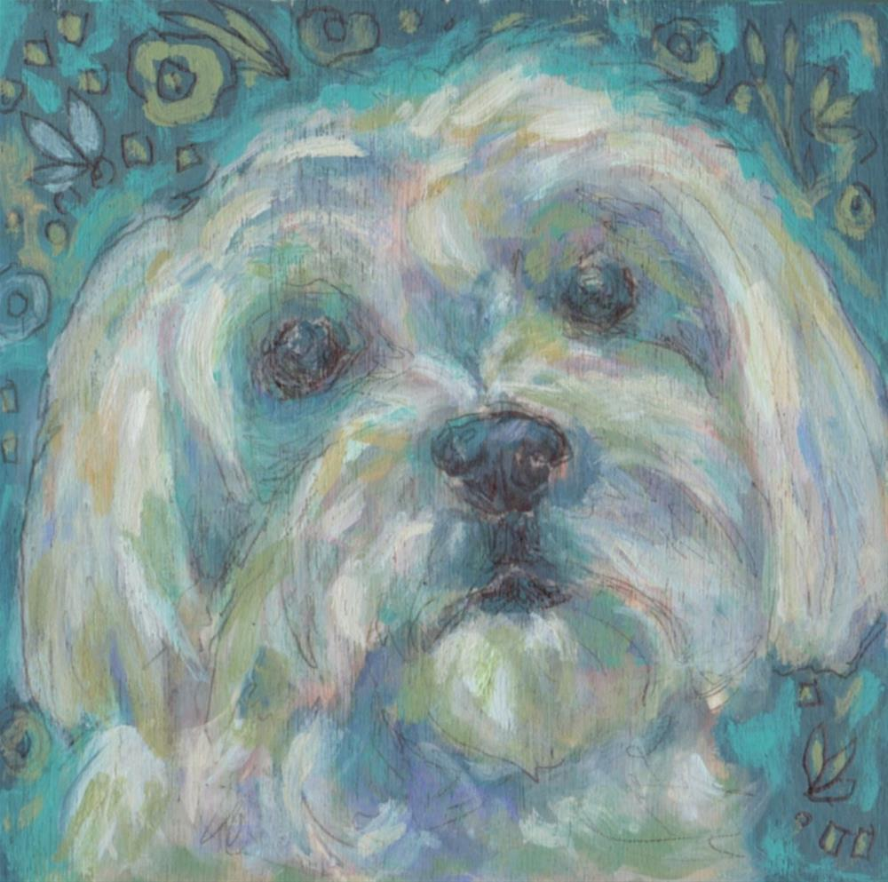 """Maltese"" original fine art by Kathy Hiserman"