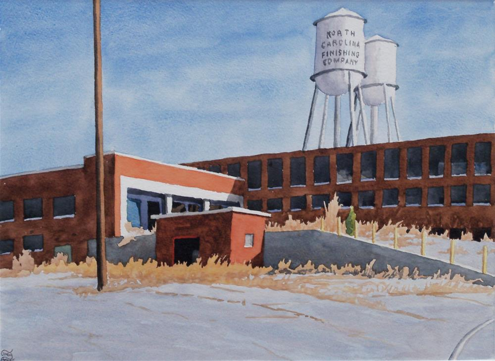 """North Carolina Finishing Company"" original fine art by Greg Arens"
