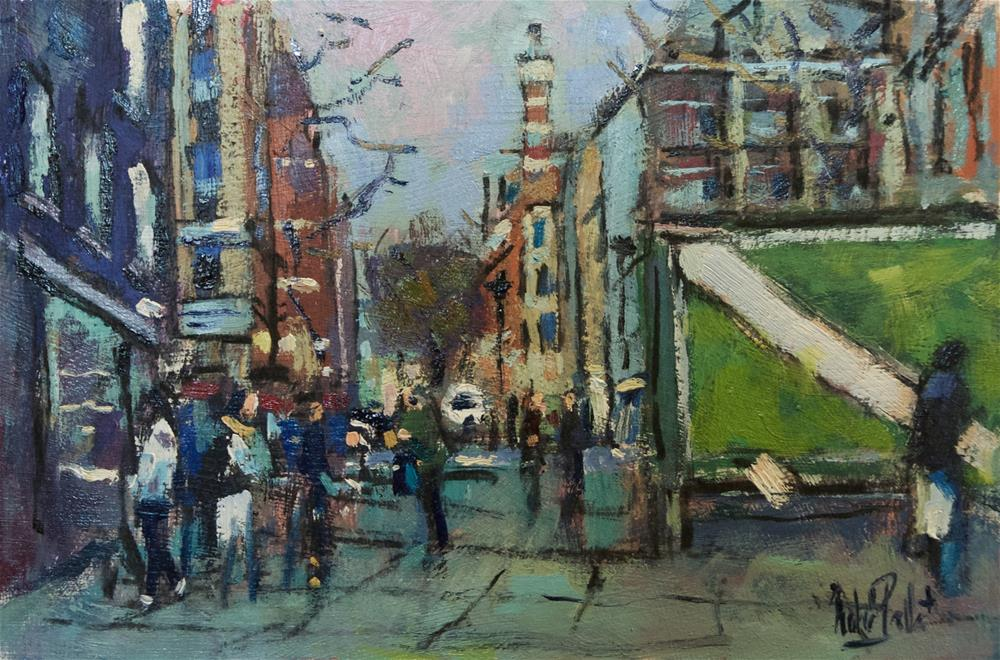 """Pedestrian Precinct off Oxford Street"" original fine art by Andre Pallat"