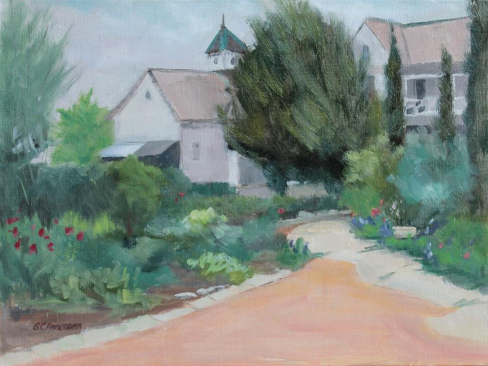 """Mansion's veggie patch"" original fine art by Susan Andersen"