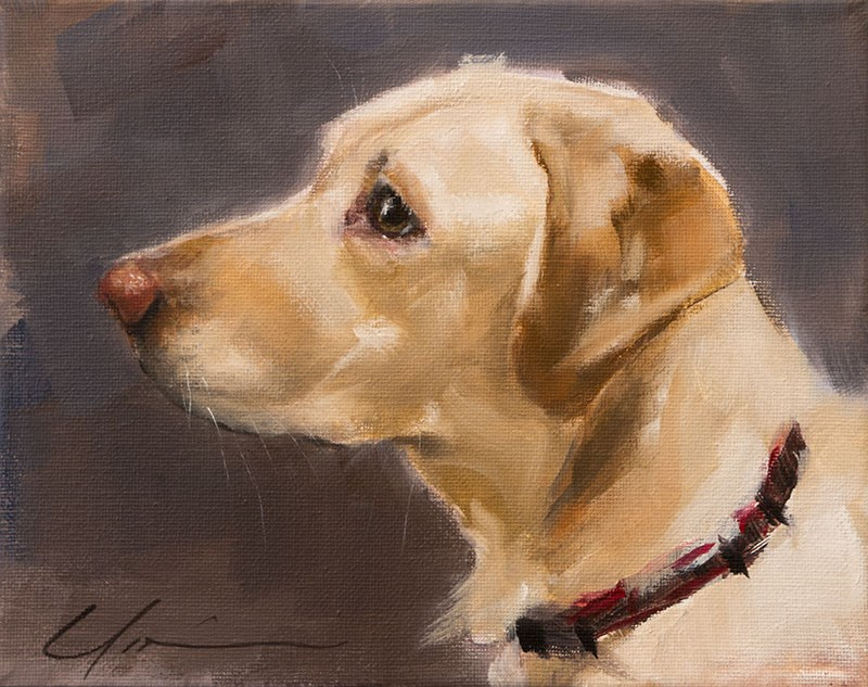 """Reagan"" original fine art by Clair Hartmann"