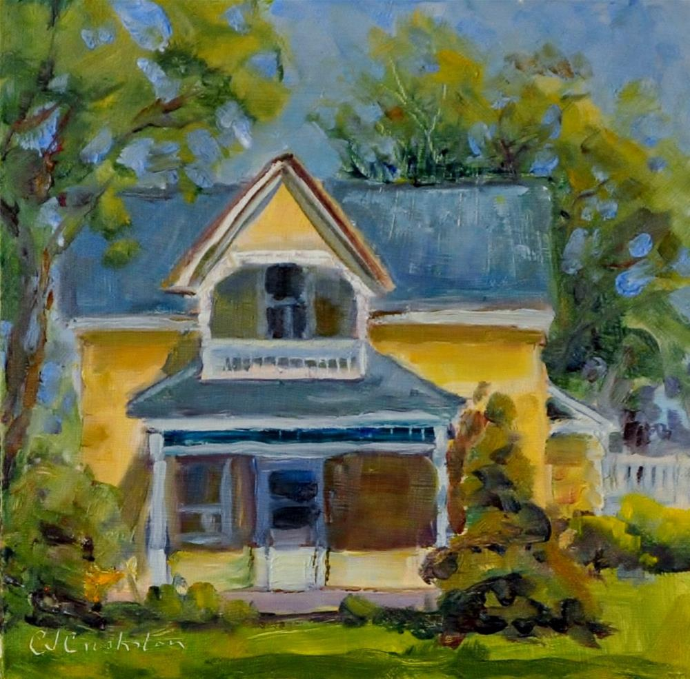 """Old Yellow House"" original fine art by Catherine Crookston"