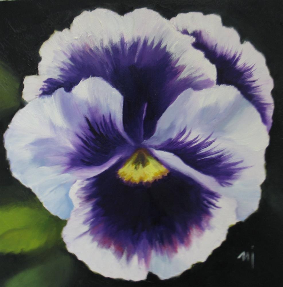 """Pansy Face"" original fine art by Nel Jansen"