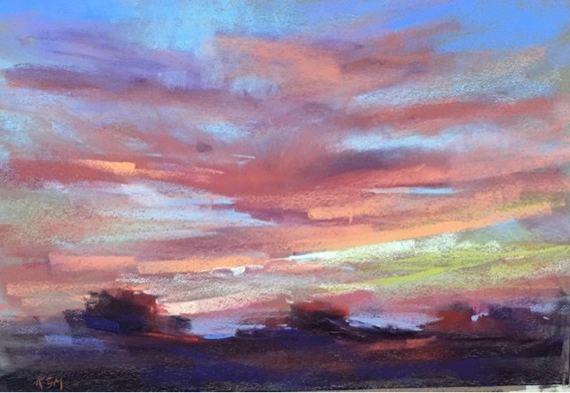 """Pastel Workshop Croatia day 3 Skies, Windows and Wine"" original fine art by Karen Margulis"