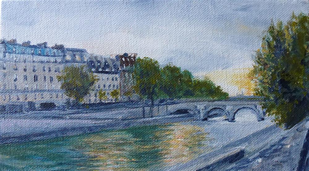 """On The Seine, Paris No. 89"" original fine art by Judith Elder"