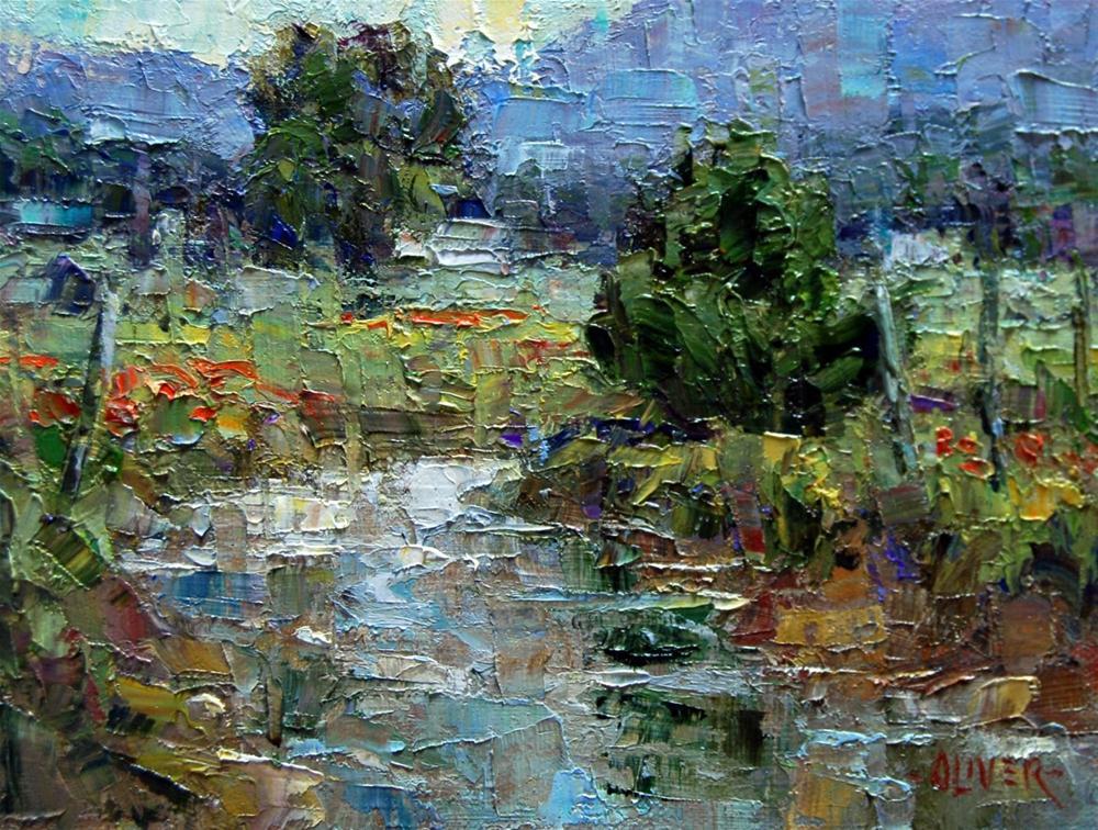 """Taos Stream"" original fine art by Julie Ford Oliver"