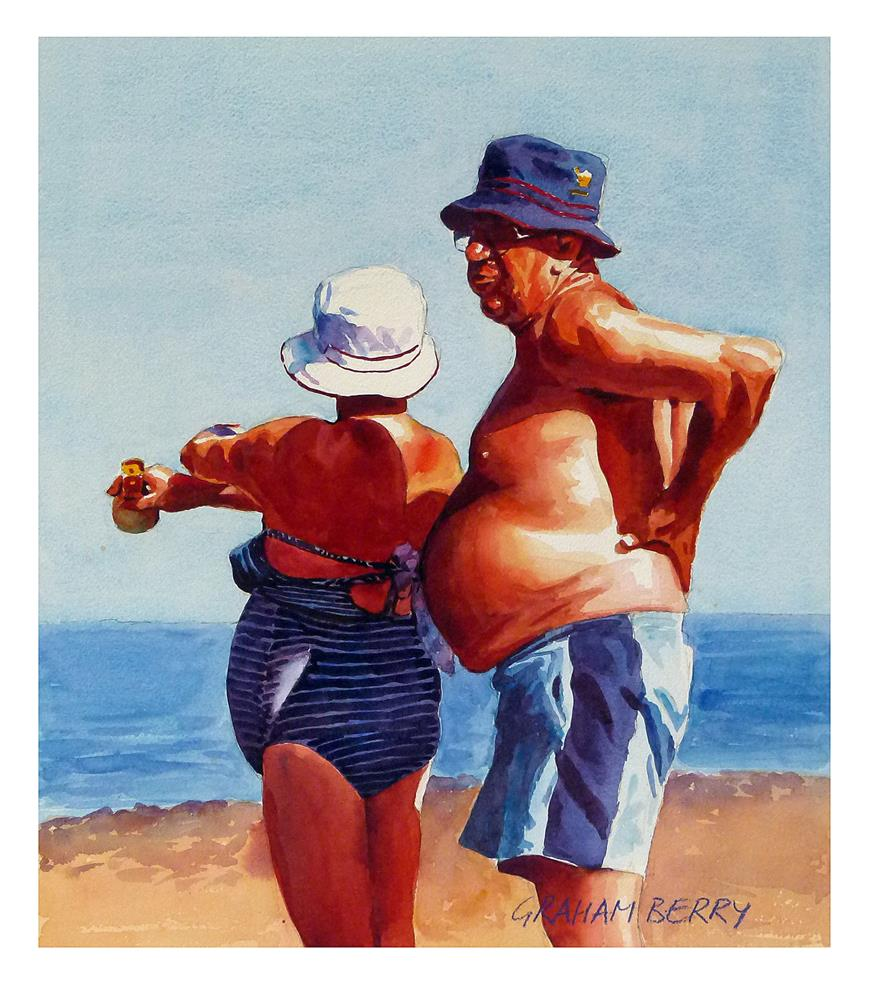 """After you with the sunscreen, dear."" original fine art by Graham Berry"