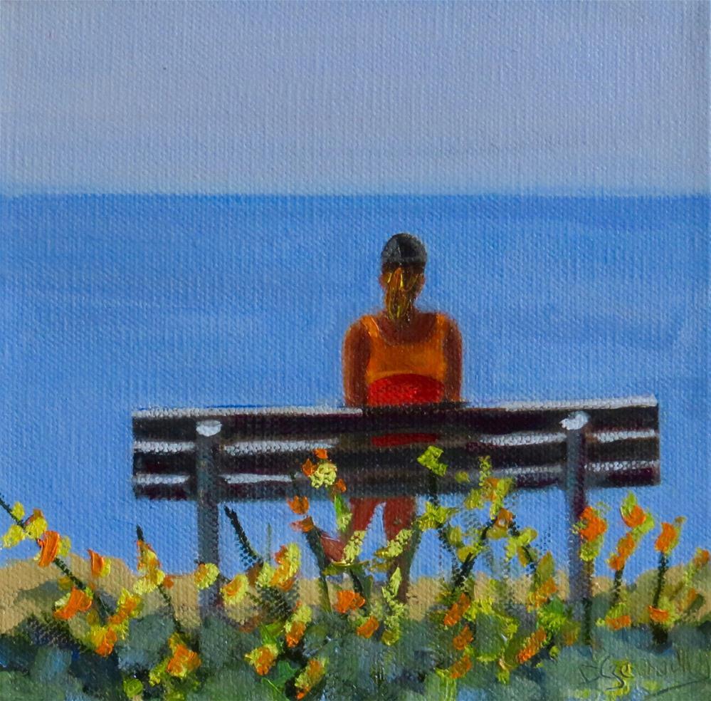 """TAKING A MOMENT"" original fine art by Deborah Czernecky"