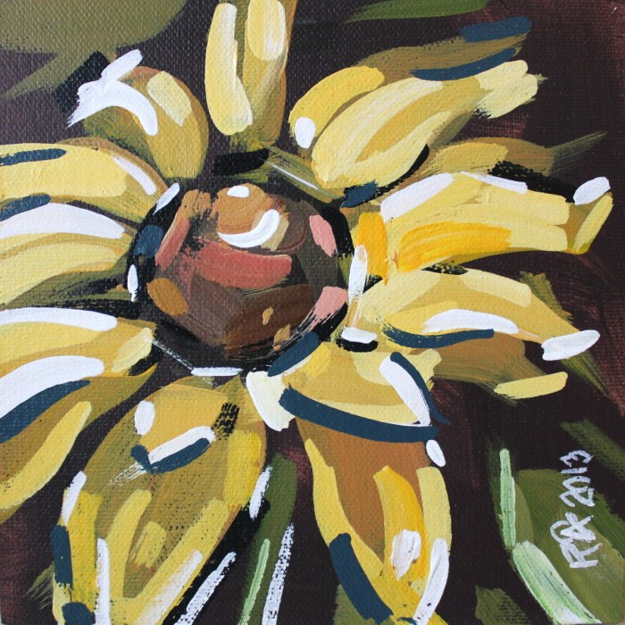 """Flowerl Abstraction 8"" original fine art by Roger Akesson"