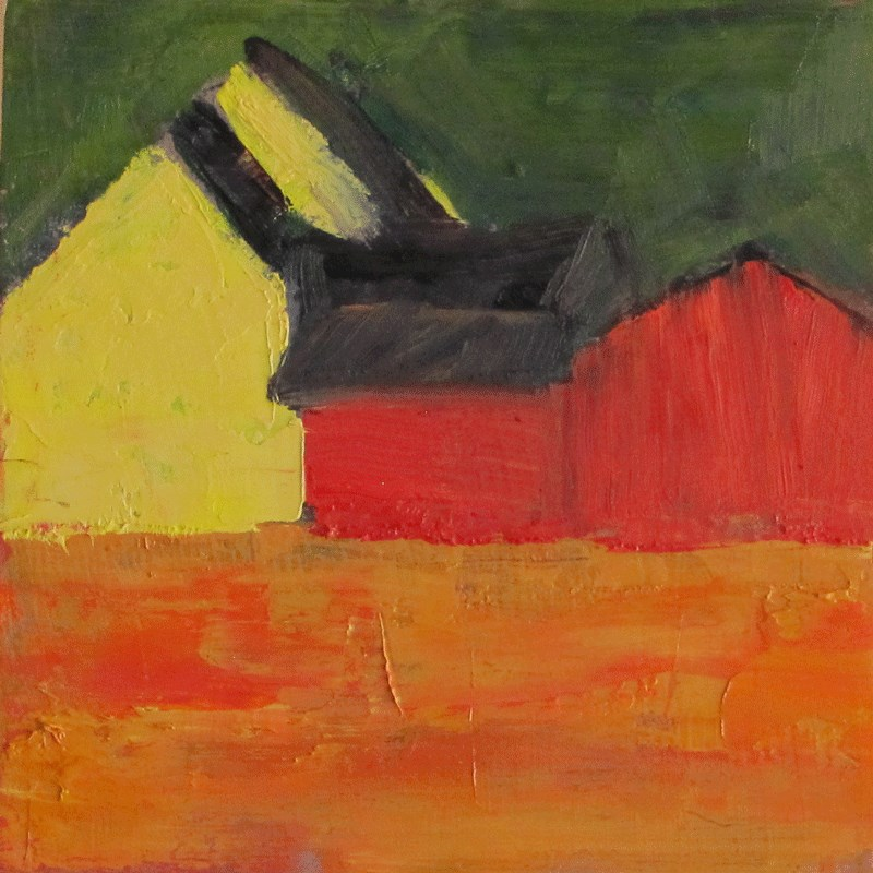 """Barns abstracted"" original fine art by Helen Moreda"