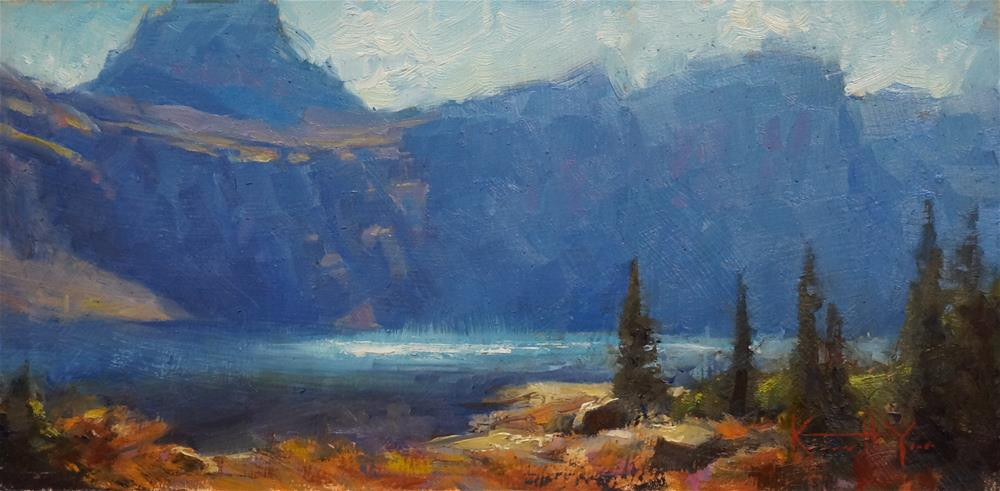 """Hidden Lake Morning"" original fine art by Kenneth Yarus"