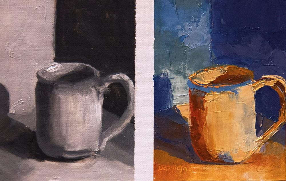"""Beachside Mug"" original fine art by Daryl Lyn King"