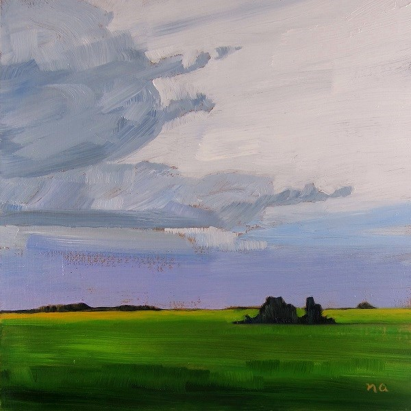"""Westerly Clouds"" original fine art by Nicki Ault"