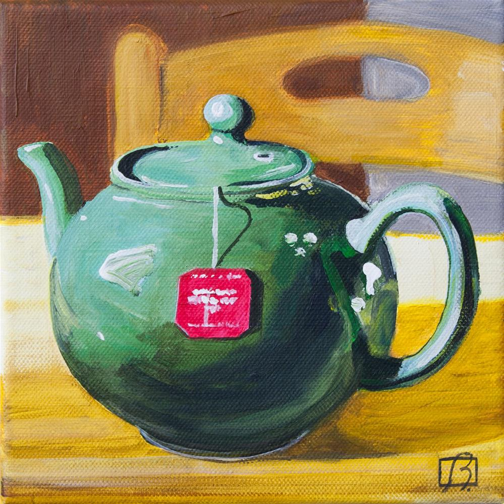 """Sit and Have a Cup"" original fine art by Andre Beaulieu"