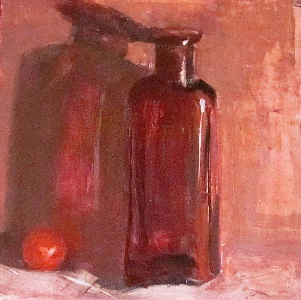 """Marble, Bottle and Shadow, DP #14"" original fine art by Carol Wiley"