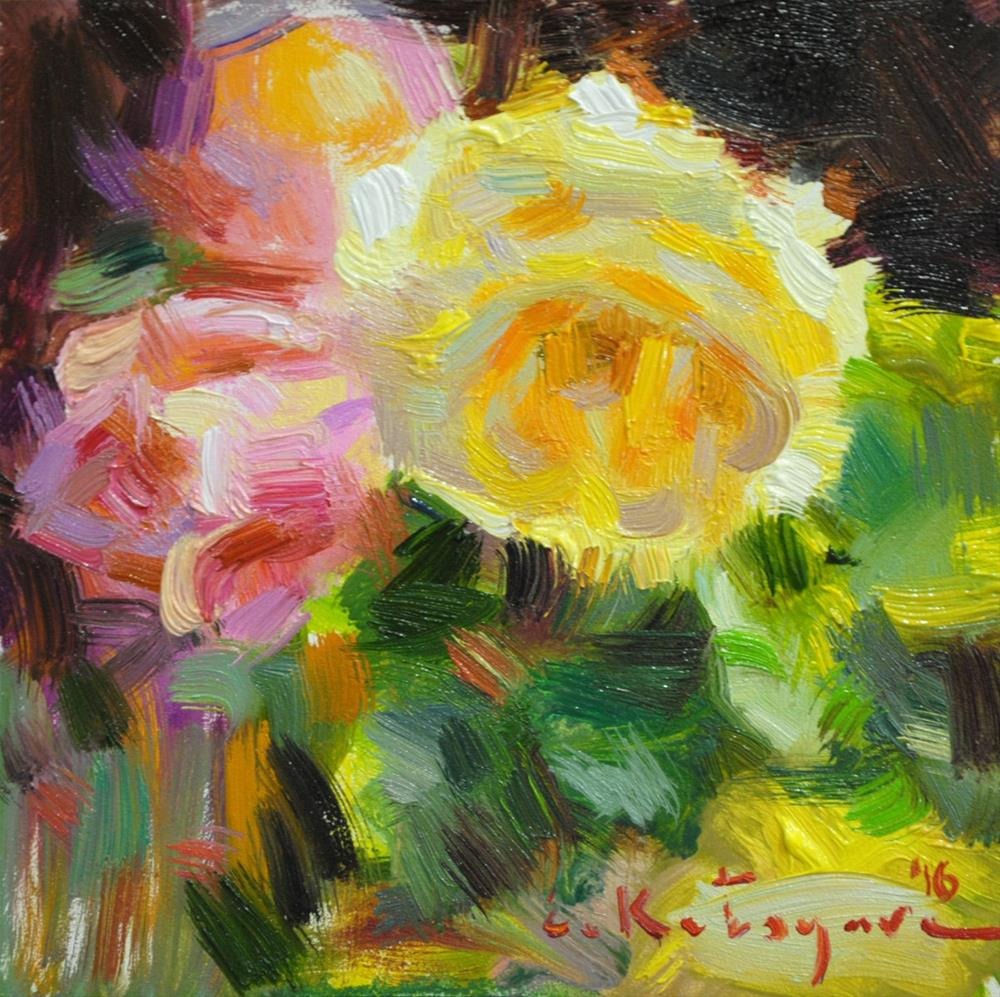 """Awesome Roses"" original fine art by Elena Katsyura"