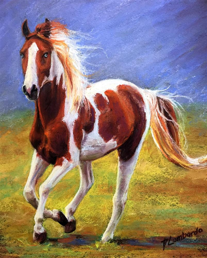 """Tobiano Paint"" original fine art by Dana Lombardo"