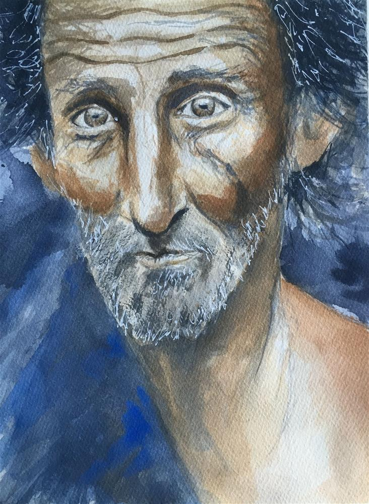 """CHARMING OLD MAN"" original fine art by Ferran Llagostera"