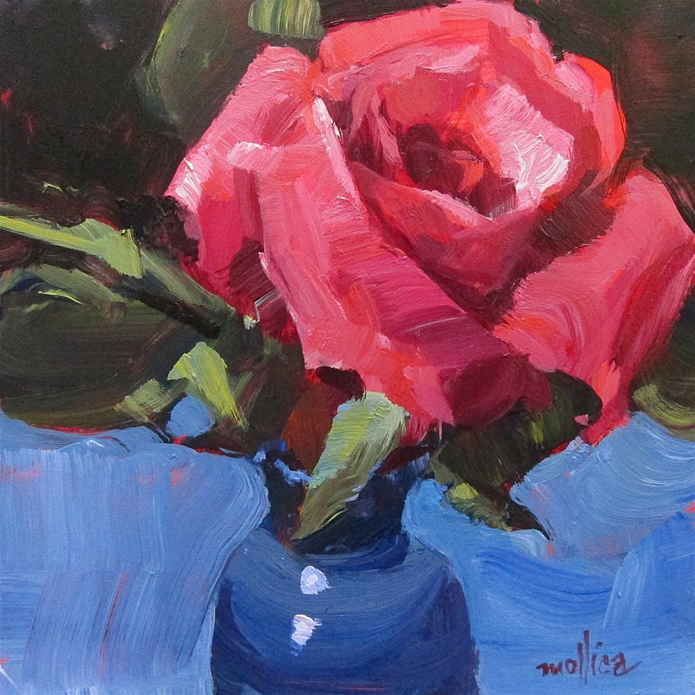 """""""A Rose is a Rose"""" original fine art by Patti Mollica"""