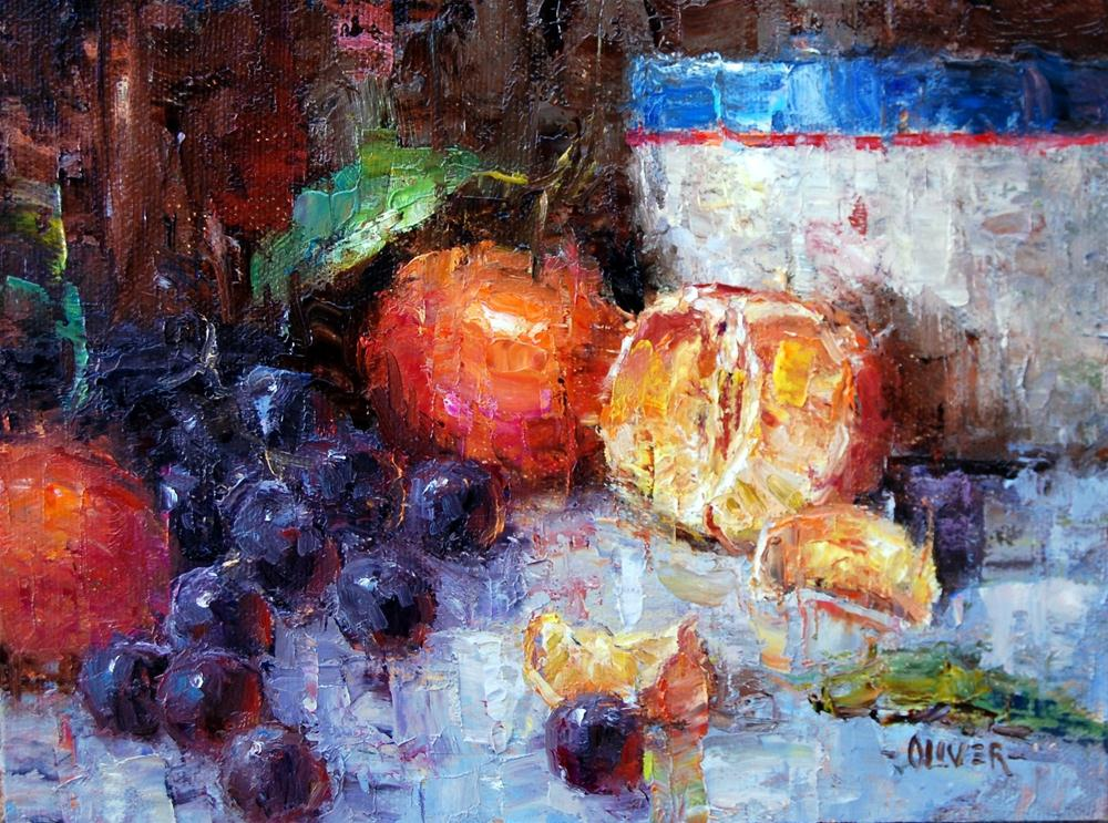 """Oranges and Grapes"" original fine art by Julie Ford Oliver"