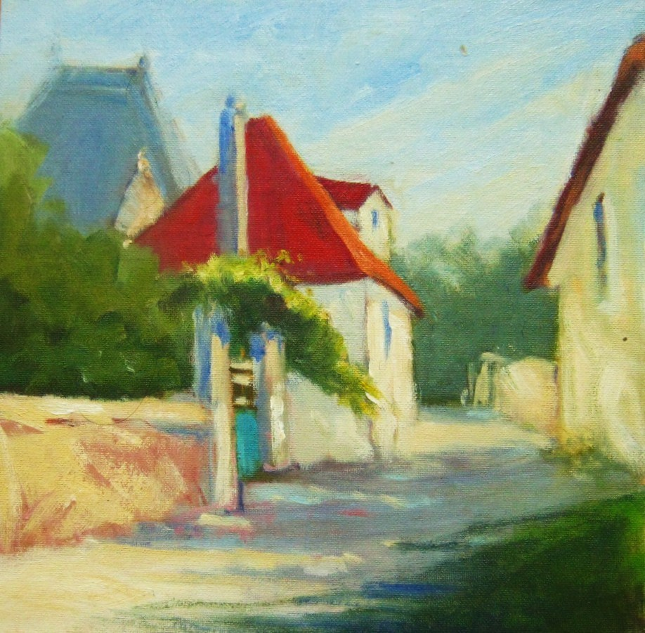 """French Village"" original fine art by Connie Snipes"