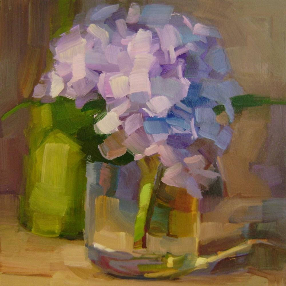 """Purple Hydrangea"" original fine art by Holly Storlie"