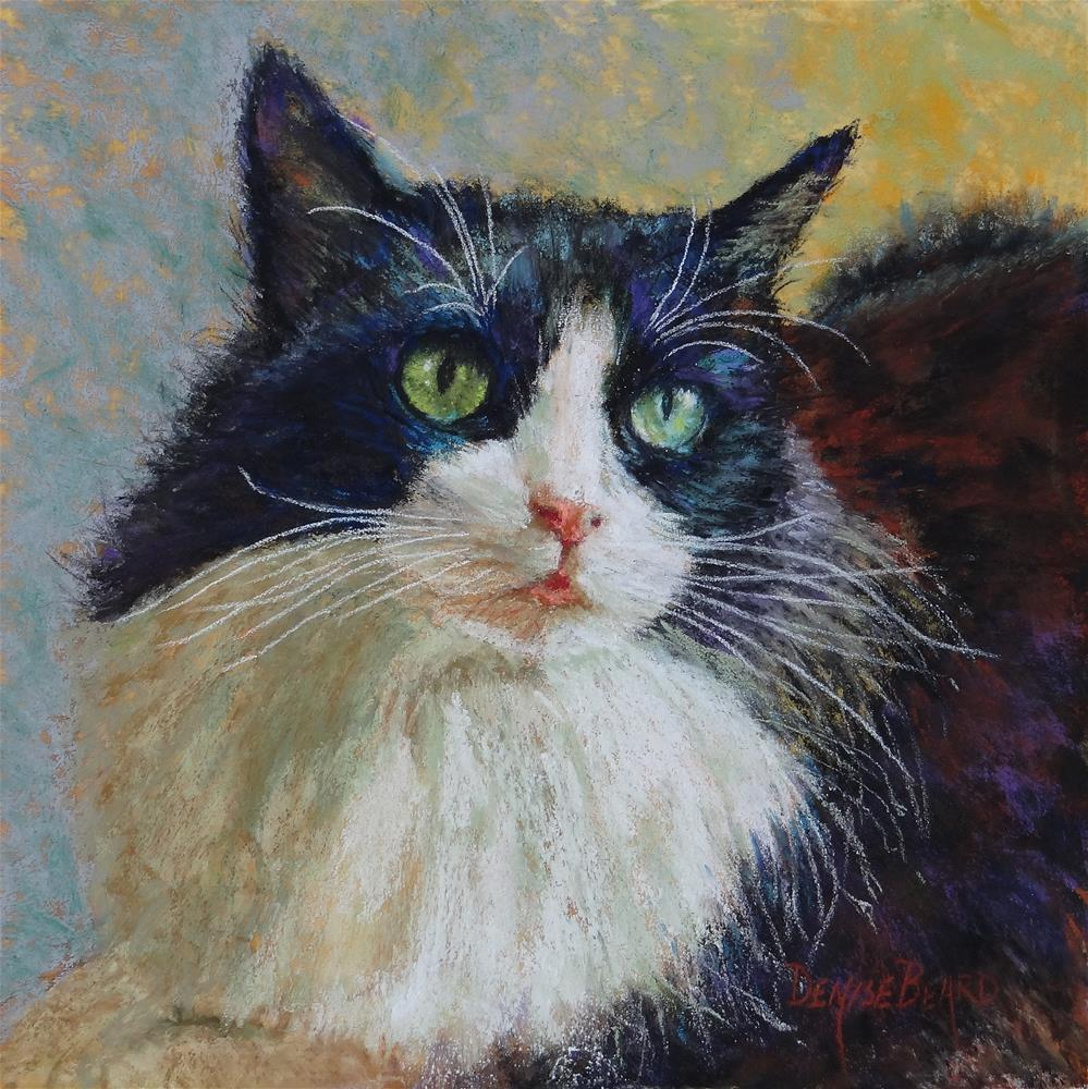 """Miss Kitty"" original fine art by Denise Beard"
