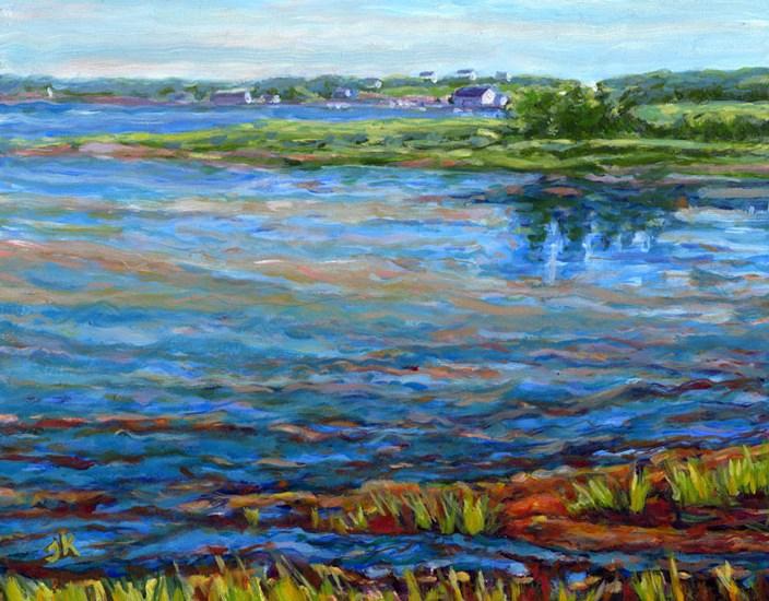 """Brilliant Blue Tide"" original fine art by J Kelsey"
